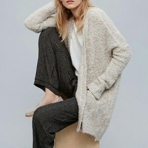 Free people Boucle Slouch Cardigan XS Oatmeal